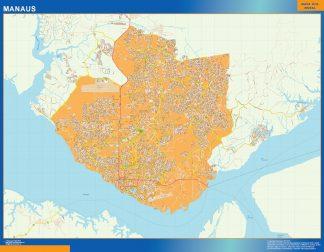Mapa Manaus Brasil gigante
