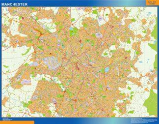 Mapa Manchester gigante