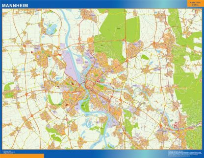 Mapa Mannheim en Alemania gigante