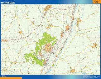 Mapa Manosque en Francia gigante