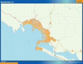 Mapa Manzanillo en Mexico gigante