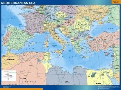 Mapa Mar Mediterraneo gigante