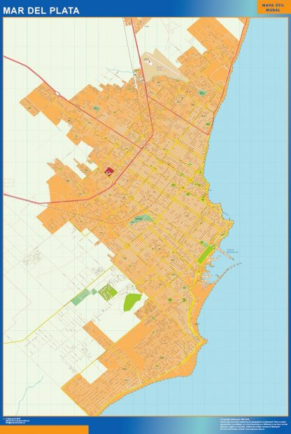 Mapa Mar del Plata en Argentina gigante
