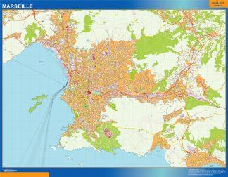 Mapa Marseille en Francia gigante