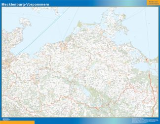 Mapa Mecklenburg-Vorpommern gigante