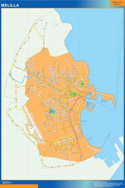 Mapa Melilla callejero gigante