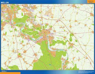 Mapa Melun en Francia gigante