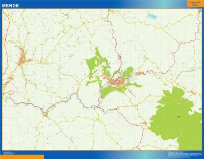 Mapa Mende en Francia gigante