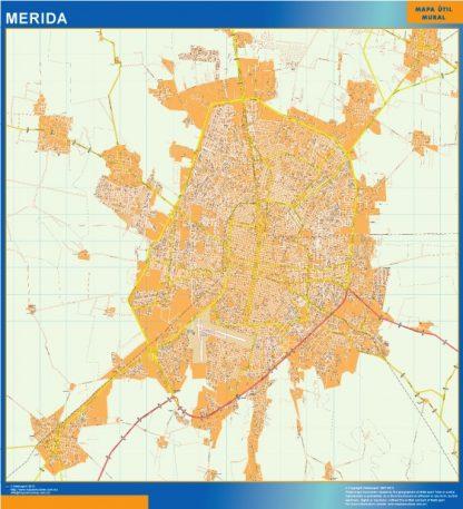 Mapa Merida Centro en Mexico gigante