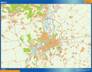 Mapa Metz en Francia gigante