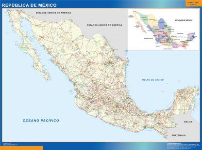 Mapa Mexico gigante