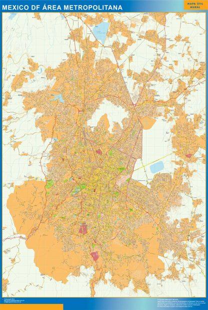 Mapa Mexico Area en Mexico gigante