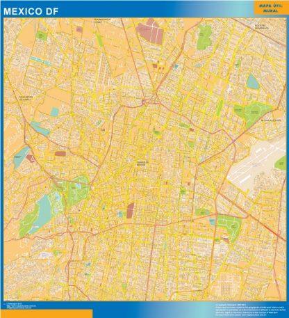 Mapa Mexico Df en Mexico gigante