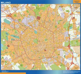 Mapa Milano gigante