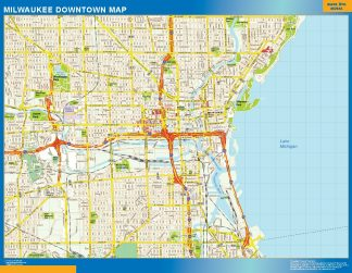 Mapa Milwaukee downtown gigante
