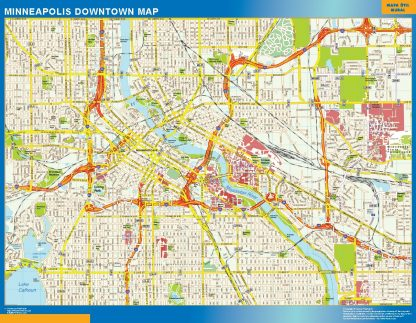 Mapa Minneapolis downtown gigante