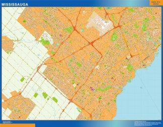 Mapa Mississauga en Canada gigante