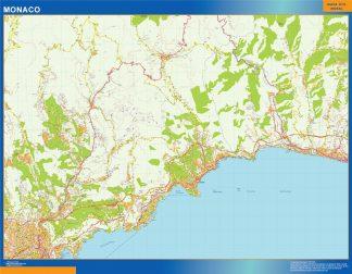 Mapa Monaco en Francia gigante