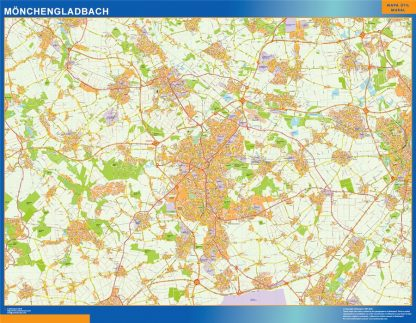 Mapa Monchengladbach en Alemania gigante