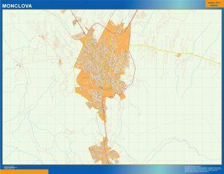 Mapa Monclova en Mexico gigante