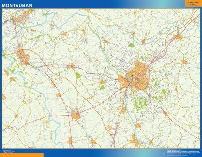 Mapa Montauban en Francia gigante