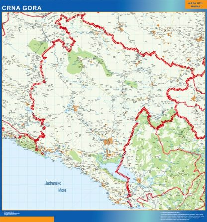 Mapa Montenegro gigante