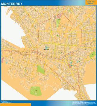 Mapa Monterrey Centro en Mexico gigante