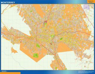 Mapa Monterrey en Mexico gigante