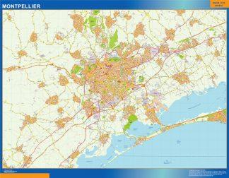 Mapa Montpellier en Francia gigante