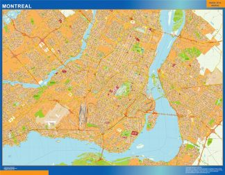 Mapa Montreal en Canada gigante