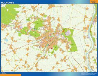 Mapa Mulhouse en Francia gigante