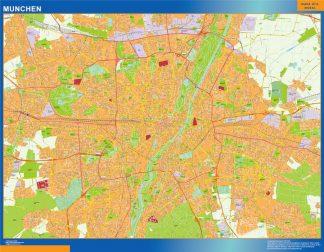 Mapa Munchen en Alemania gigante