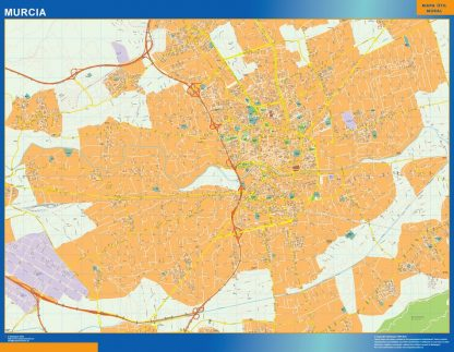Mapa Murcia callejero gigante