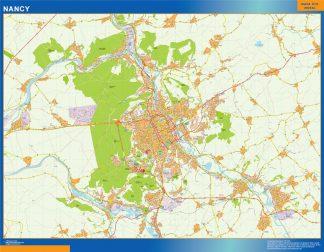 Mapa Nancy en Francia gigante
