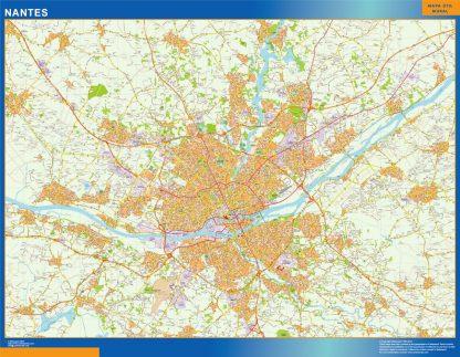Mapa Nantes en Francia gigante