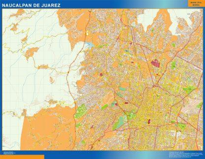 Mapa Naucalpan De Juarez en Mexico gigante
