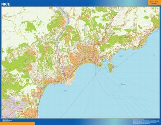 Mapa Nice en Francia gigante