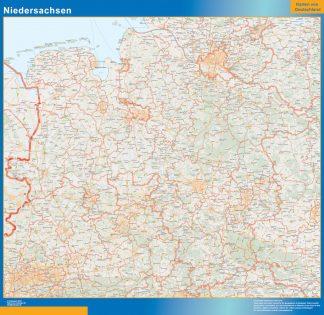 Mapa Niedersachsen gigante
