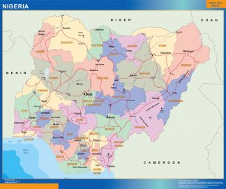 Mapa Nigeria gigante