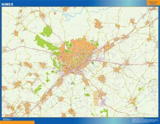 Mapa Nimes en Francia gigante
