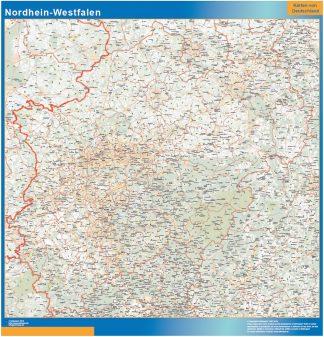 Mapa Nordrhein-Westfalen gigante