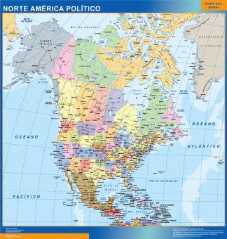 Mapa Norte America gigante
