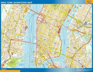 Mapa Nueva York downtown gigante