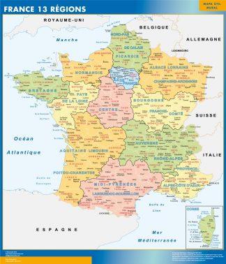 Mapa Nuevas Regiones Francia gigante