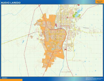 Mapa Nuevo Laredo en Mexico gigante