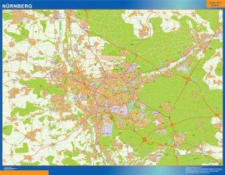 Mapa Nurnberg en Alemania gigante