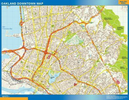 Mapa Oakland downtown gigante