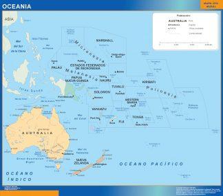 Mapa Oceania gigante