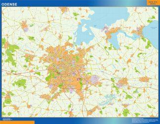 Mapa Odense en Dinamarca gigante