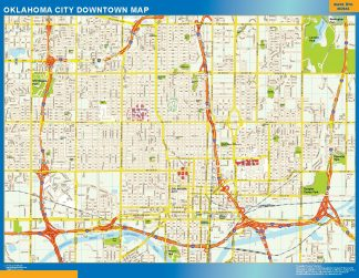 Mapa Oklahoma City downtown gigante